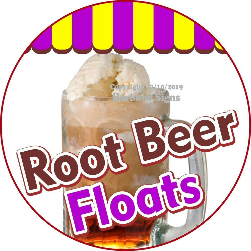 Root Beer Floats DECAL (Choose Your Size) Concession Food Truck C Sticker #HarbourSigns #rootbeerfloat