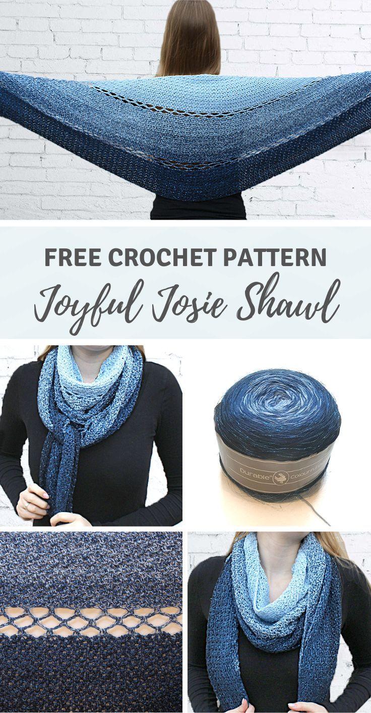 Joyful Josie Shawl - a round crochet shawl by Wilmade