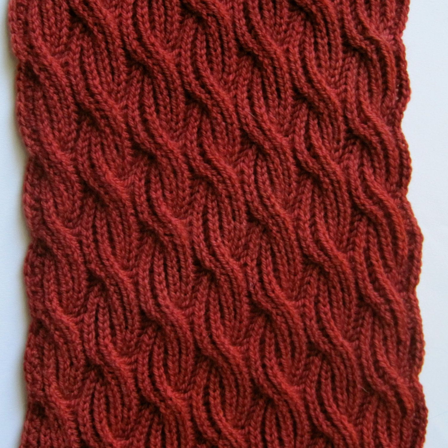 Knit Scarf Pattern: Brioche Cabled Turtleneck Scarf Knitting Pattern ...