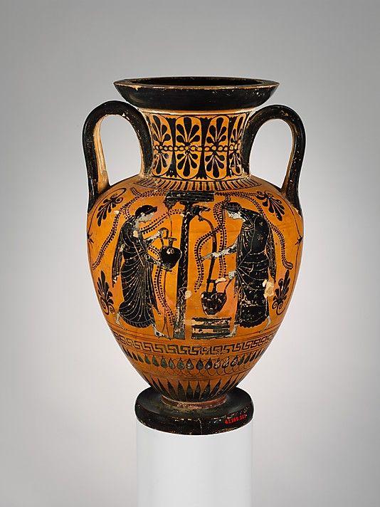 Terracotta Neck Amphora Jar Period Archaic Date Ca