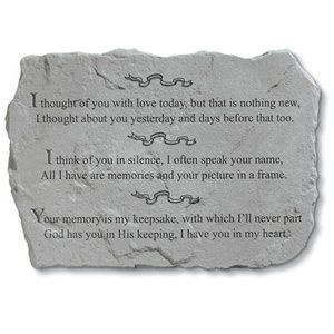 I Thought Of You With Love Today Memorial Stone Pm4109