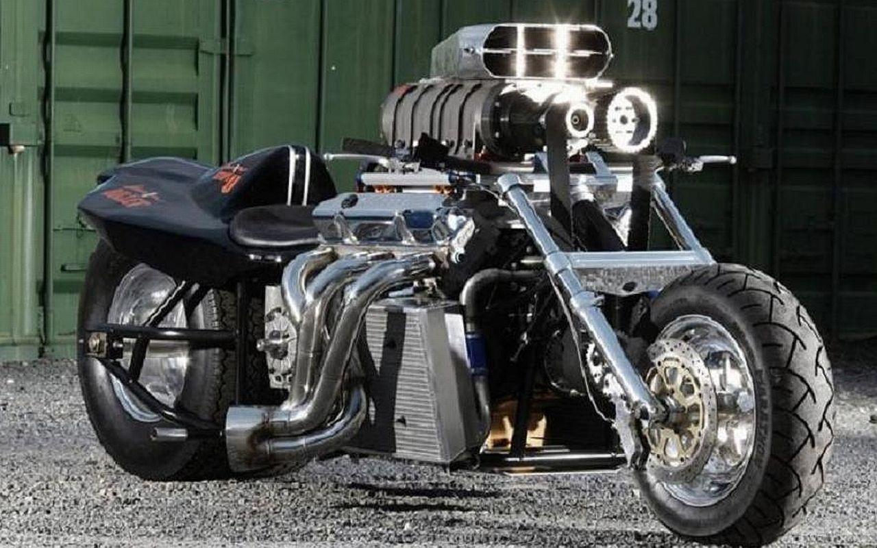 Rapom V8 monster bike (With images) | Super bikes, Boss hoss, Drag ...