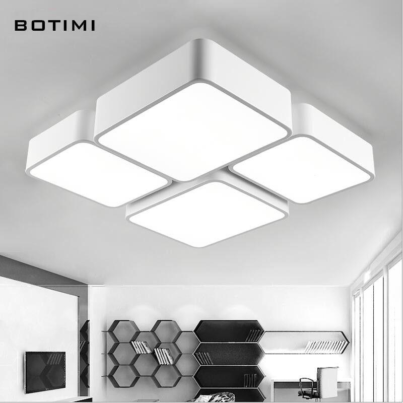 BOTIMI designer moderne en métal LED dimmable plafonnier lamparas - lampe wohnzimmer led nice design