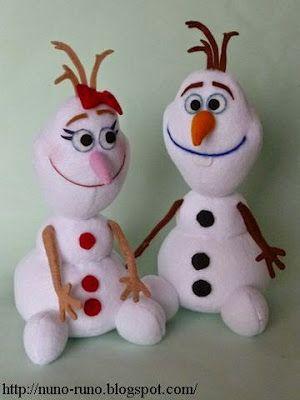 Olaf and girlfriend plush pattern