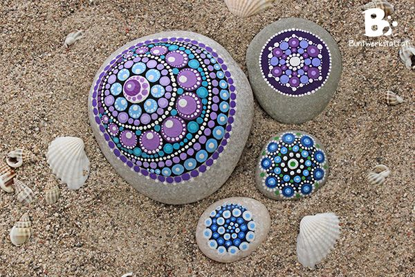 diy mandala stones tutorial colorful diy galets peints peinture sur galet et. Black Bedroom Furniture Sets. Home Design Ideas