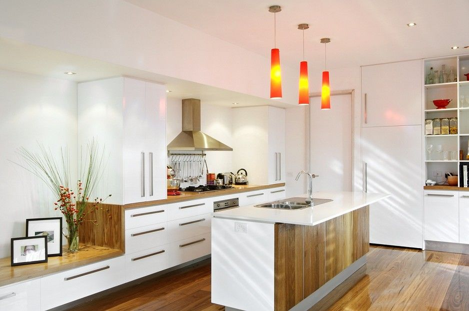 Kitchen Ideas Melbourne timber & white kitchen - smarter kitchens, kitchen renovation