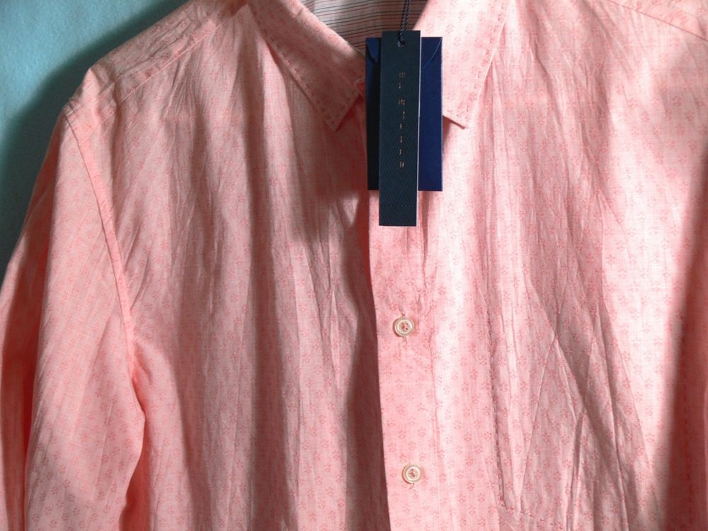 Elie Tahari Men's Shirt 'Jonas' button front Cotton Size Small $198 Long Sleeves #ElieTahari #ButtonFront