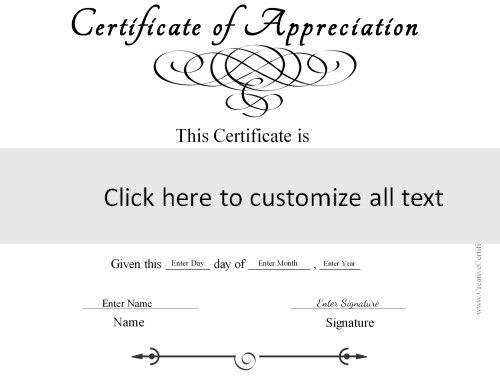 template to create a generic certificate in black and white ...