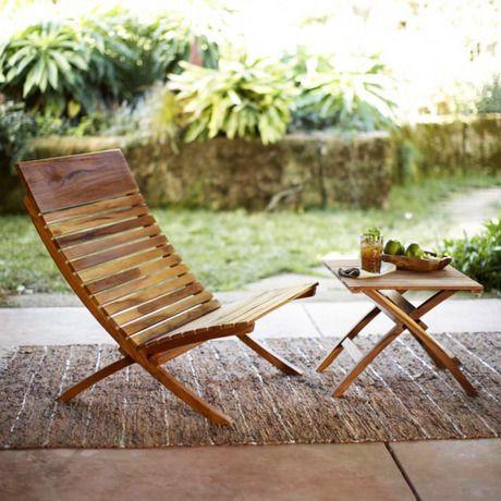 Teak Teak Teak Spanish Teak Side Table and Chair #teak #outdoor