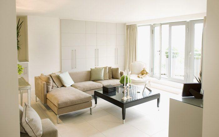 Wandschrank Wohnzimmer ~ Ein entspanntes wohnzimmer im industrielook mit möbeln aus holz