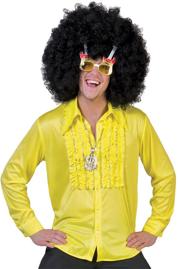 d2bacdd6 Saturday Night Disco 70s Adult Retro Mens Yellow Shirt Costume Dress Up, in  Clothing, Shoes, Accessories, Costumes, Men's Costumes | eBay