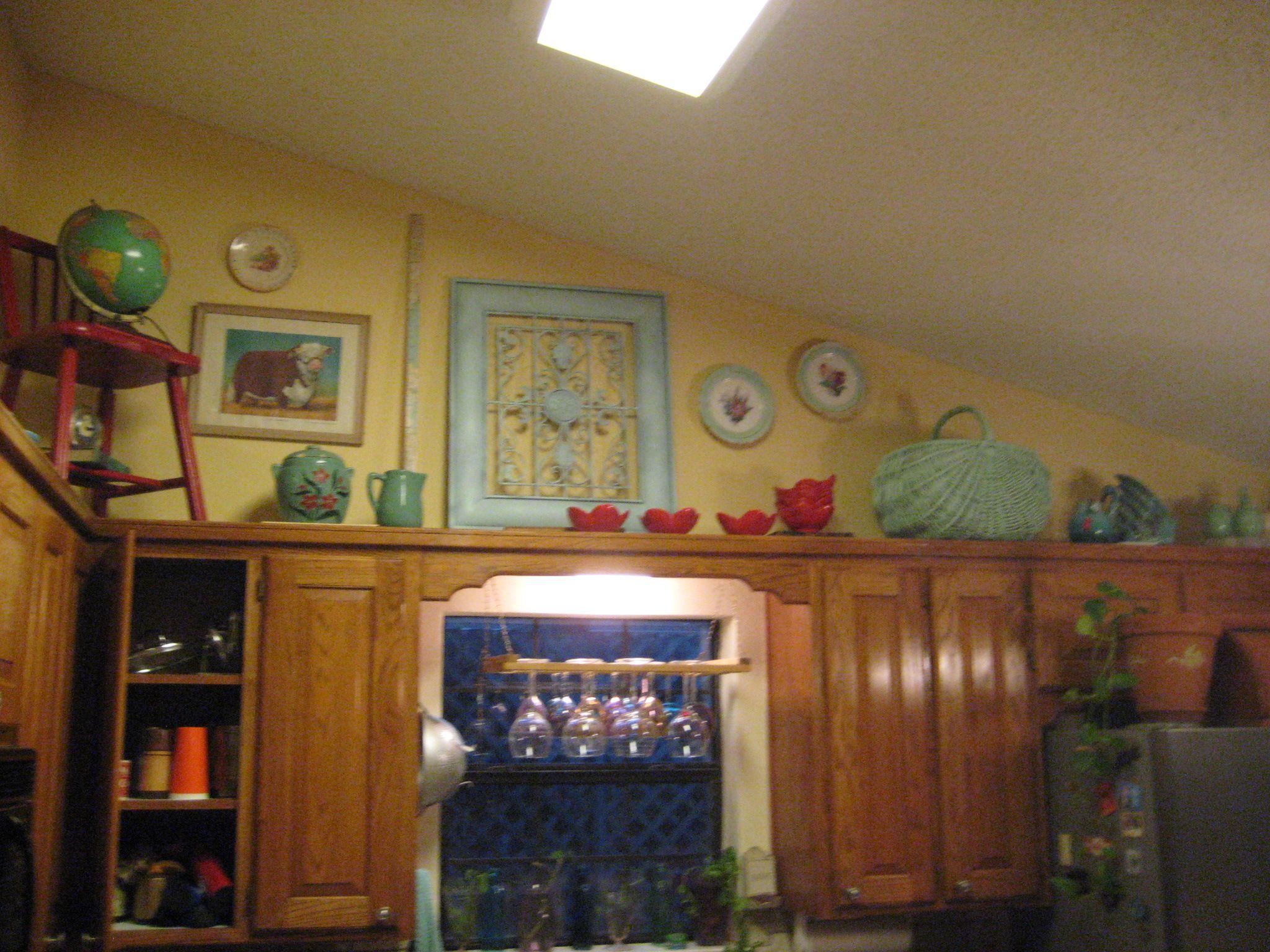 Decorating above Kitchen Cabinet Interior | decorating over kitchen cabinets nancy s hands decorating over kitchen