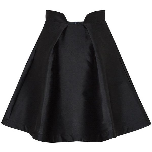 PAPER London Paris Skirt (€170) ❤ liked on Polyvore featuring skirts, mini skirts, bottoms, cocktail skirt, mini flare skirt, cut out skirt, flared mini skirt and zipper skirt