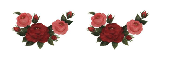 Bordes de rosas para imprimir  imagenes de rosas  Pinterest