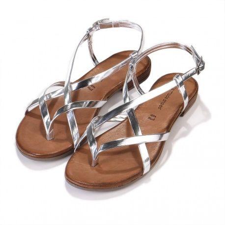 e74f5d69ce0c Bella Moda Shoes - Laminato Speccio Sandale argento