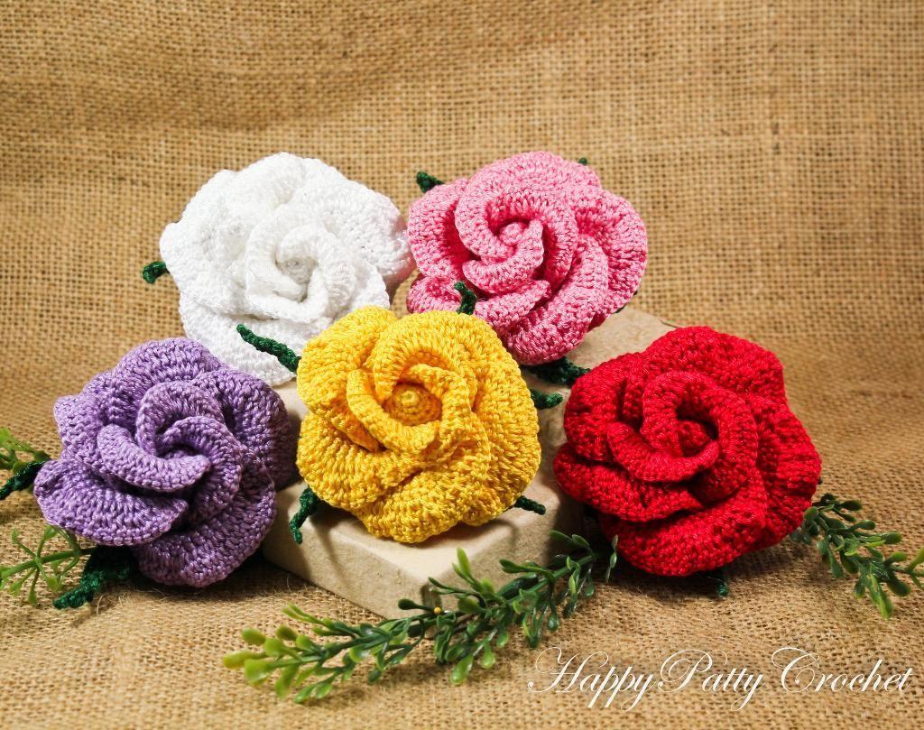 (4) Name: 'Crocheting : Vieng Ping Rose