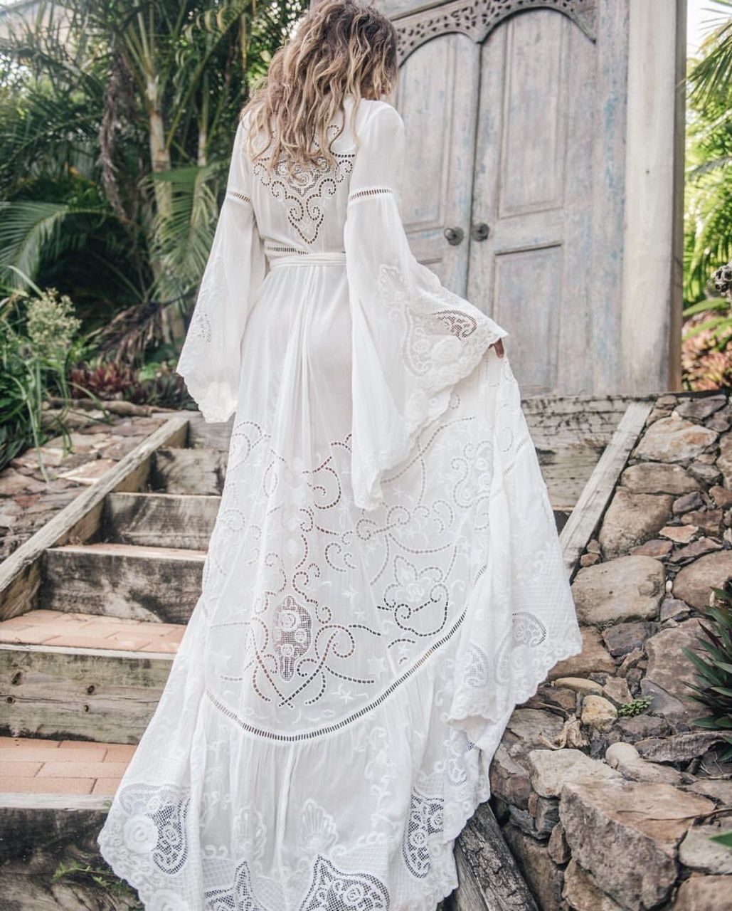 Boho Chic Style Wedding Gown | happily ever after | Pinterest ...