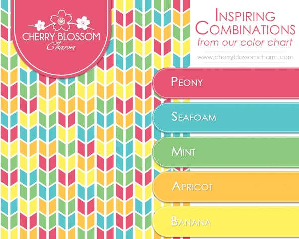 A Fun And Vibrant Color Combination For Spring Summer Pink Peony Seafoam Blue Mint Green Apricot Orange Banana Yellow