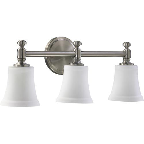 Photo of Quorum International Three Light Satin Nickel Bath Fixture 5122 3 65 | Bellacor