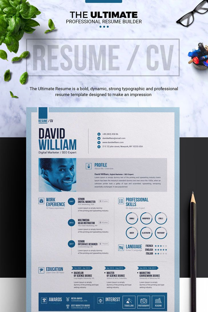 Job / CV Builder with ms word Resume Template | Resume builder, File ...