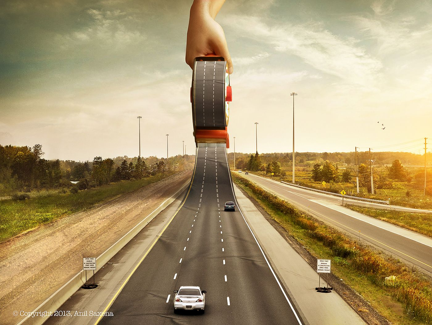 A Making Of Road On Behance Photoshop Photography Miniature Photography Graphic Design Advertising