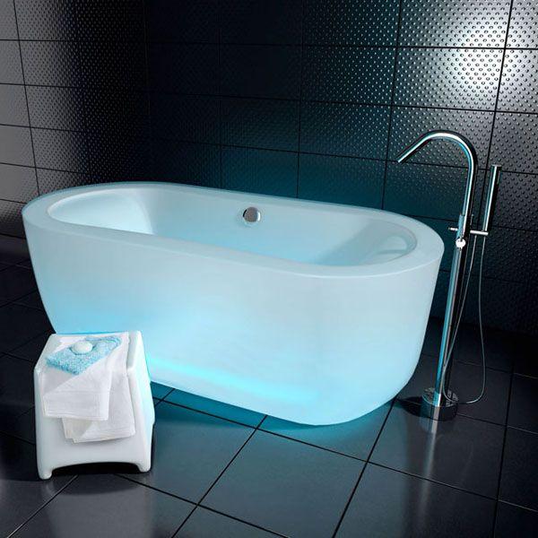 baignoire lumineuse  une nouveauté design à découvrir