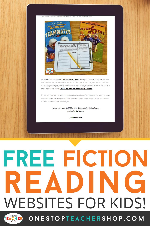 FREE Fiction Reading Websites for Kids Reading websites