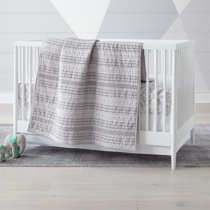 Pattern Play Grey Crib Bedding Crate And Barrel In 2020 Grey Crib Bedding Grey Crib Fitted Crib Sheet