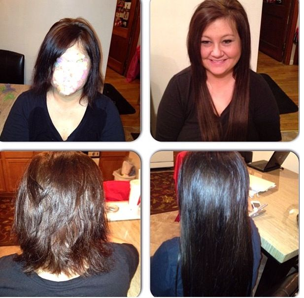Before And After Sew In Extensions Microbead Extensions 18in Hair
