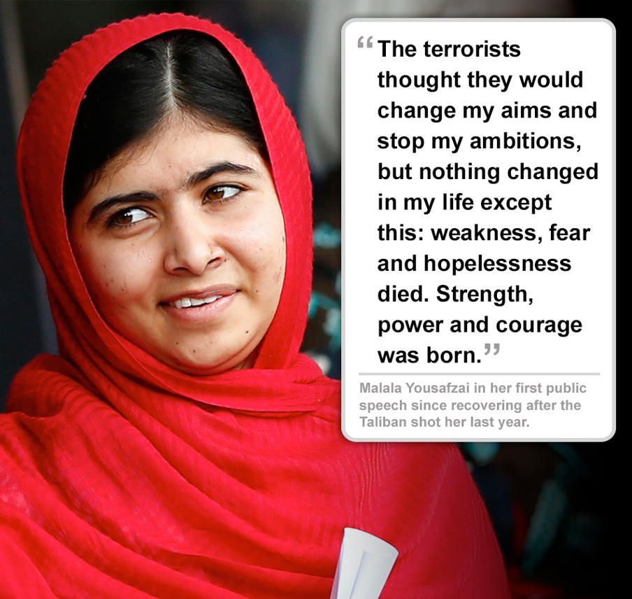 Malala Quotes Malala Yousafzai  Such A Fantastic Role Model For Girls & Women