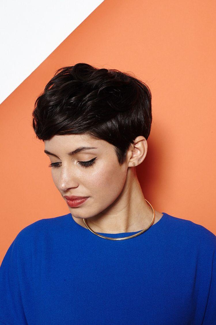 romatischer pixie cut mit legeren wellen frise pinterest kurze haare stylen haare stylen. Black Bedroom Furniture Sets. Home Design Ideas