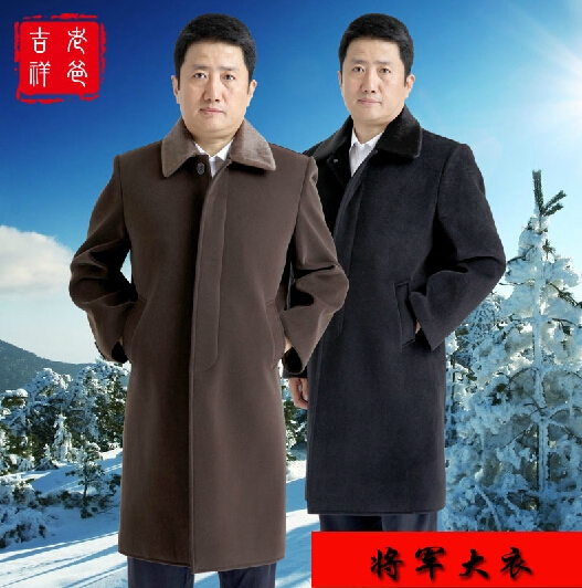 117.50$  Watch here - http://alipzl.worldwells.pw/go.php?t=2042203201 - Free shipping ! Quinquagenarian winter men's brand clothing fur collar wool overcoat Leisure wool long design coat / L-3XL 117.50$