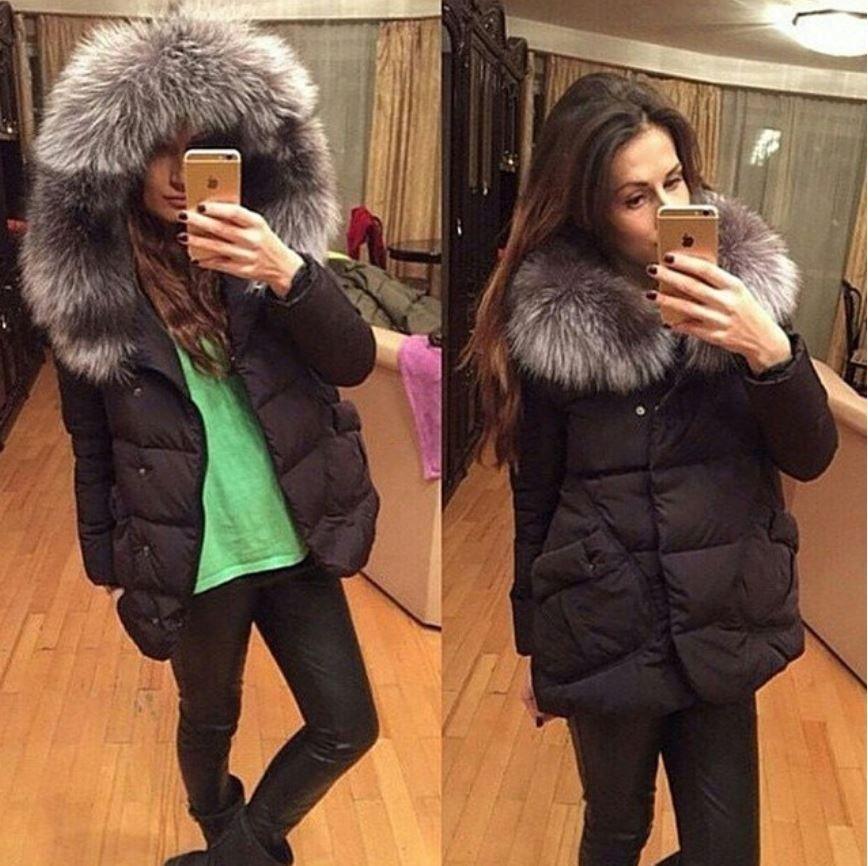 6813dd9797d Luxusní dámská zimní bunda s kožíškem černá – Velikost L Na tento produkt  se vztahuje nejen