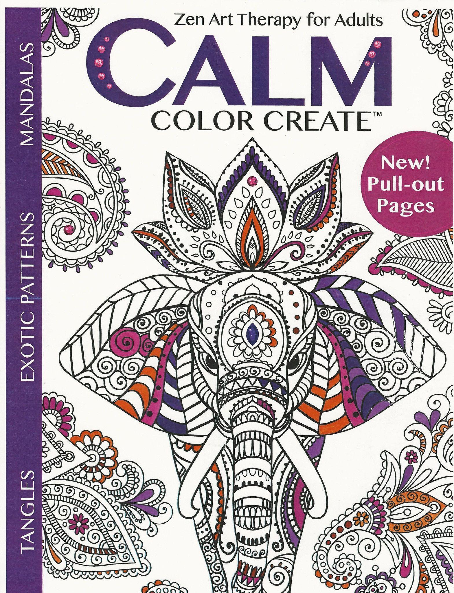 Calm Color Create Zen Art Coloring Books Color