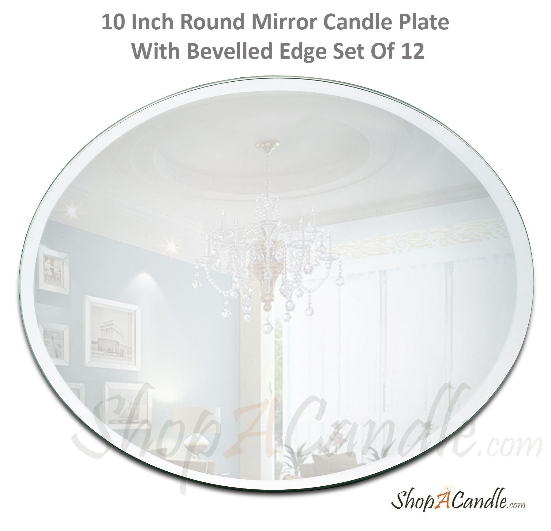 Mirror Candle Plate We Sell Premium Quality Round Mirror Centerpieces For The Table 10 Inch Mirror Candle Plate With Mirror Candle Plate Candle Plate Mirror