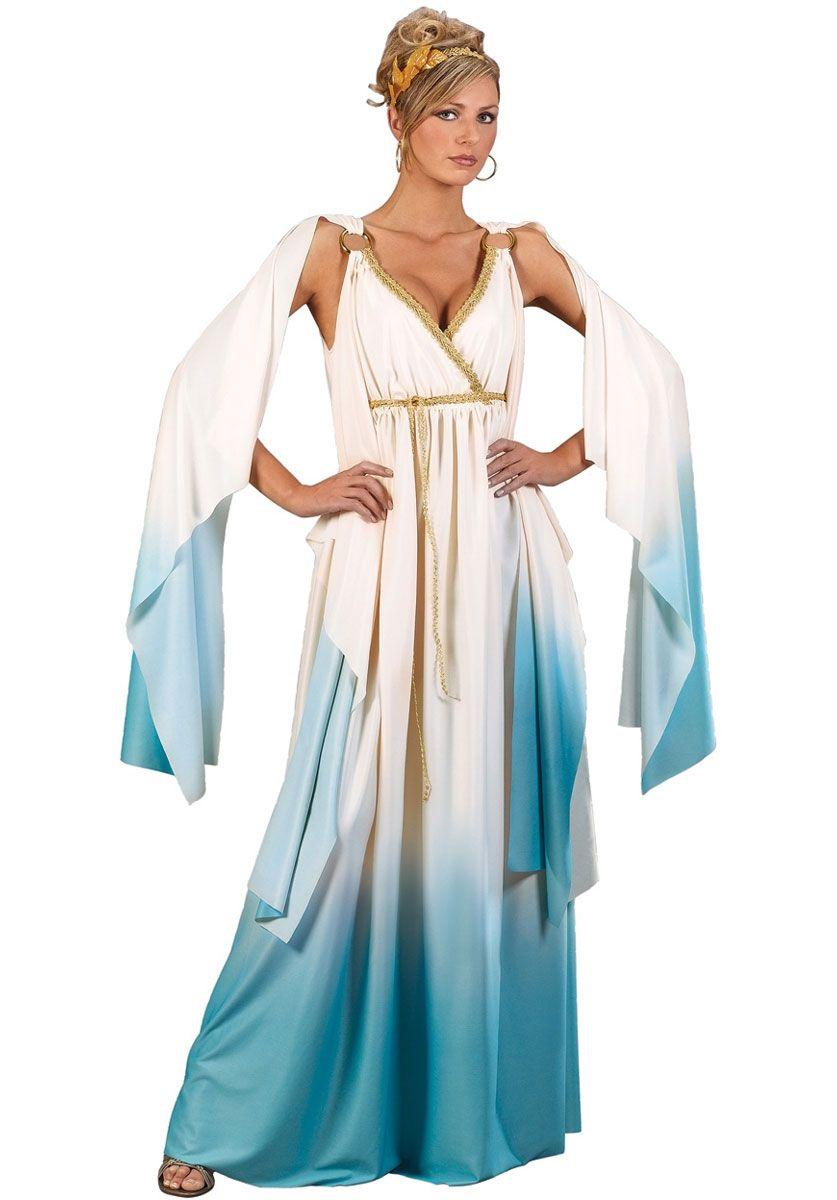 Greek Goddess Plus Size Costume - Blue & White - God\'s & Monsters ...