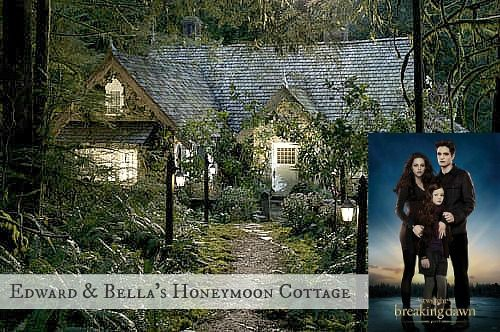 Breaking Dawn 2 Bella And Edward S Cottage Honeymoon Cottages Cottage In The Woods Twilight House