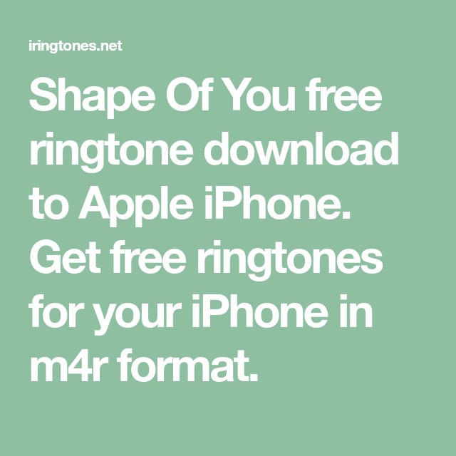 ringtone download free shape of you