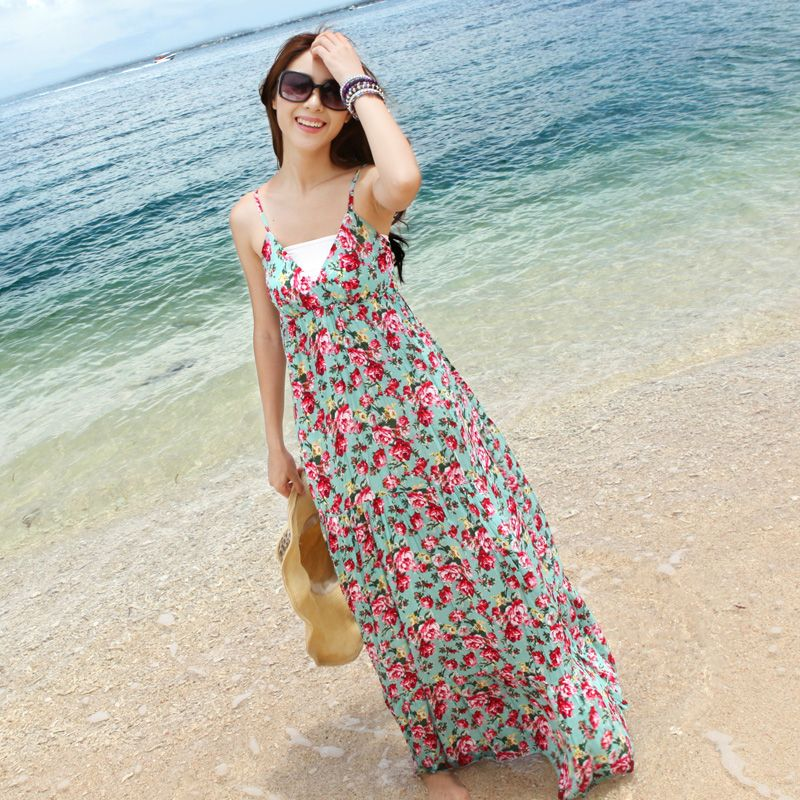 Image result for floral dress for beach