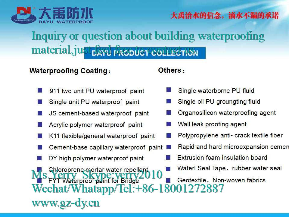 Waterproofing coatings for concrete,building,tunnel