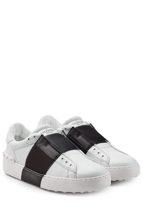 049bfe9661e  valentino  shoes   White Leather Shoes