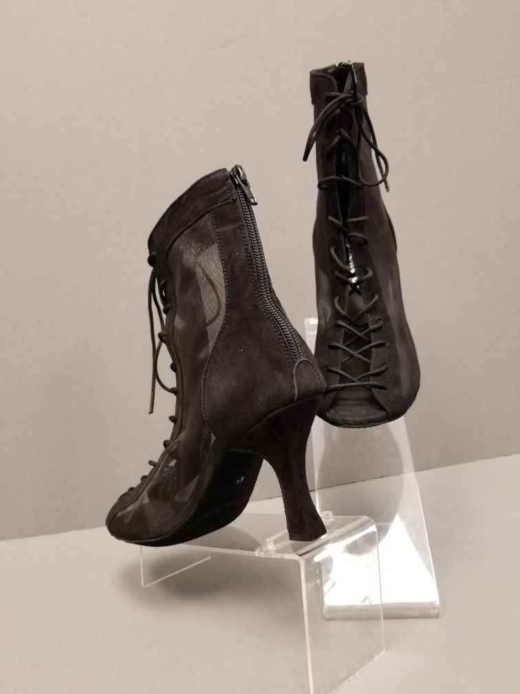 Latin Salsa Tango Very Fine Ballroom Dance Shoe CD1122DB Pearl or Black Leather