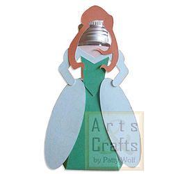 Porta Tubete Ariel Princesa. Projeto de corte no formato GSD, à venda nos sites: http://www.artscrafts.com.br/ e http://www.cortecrie.com.br/