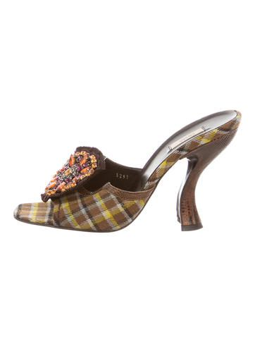 Prada Jewel-Embellished Slide Sandals discount cheap online J8BWZ0w