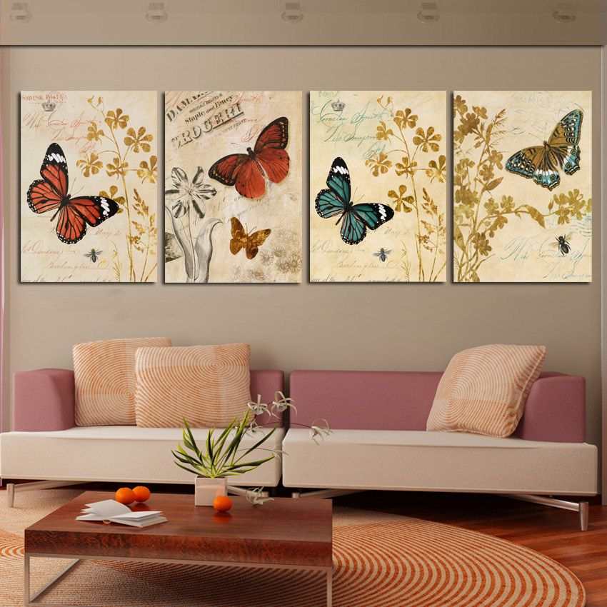 Multi paneles de arte de la pared decorativa combinado for Cuadros modernos decoracion para tu dormitorio living