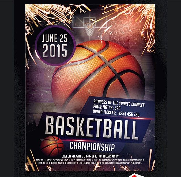 basketball flyer psd templates