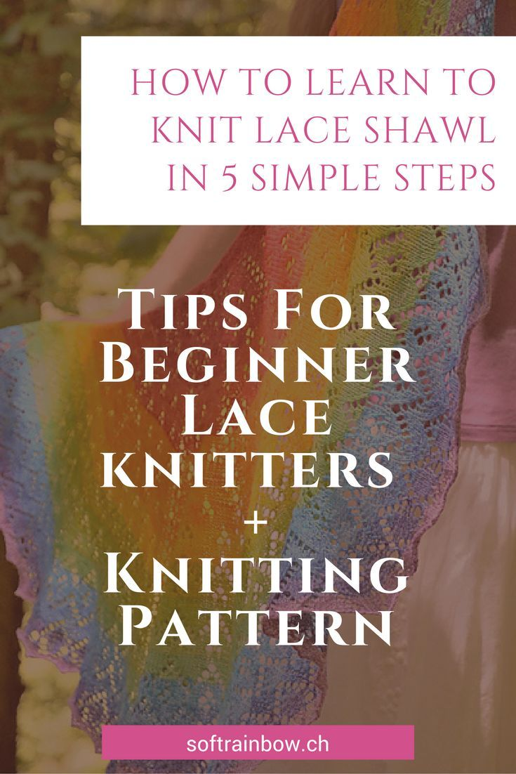 How to learn to knit lace shawl in 5 simple steps | Knitting ...