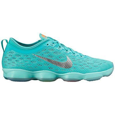 Nike Women's ZOOM Fit Agility Training Shoes Cardio Tech Aqua MSRP $130 NEW