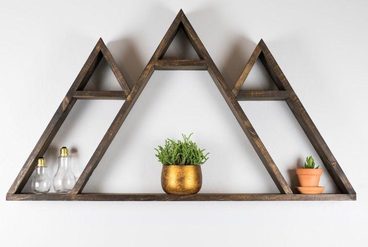 Geometric Wasatch Mountain Shelf Nursery Decor In 2018 Shelves