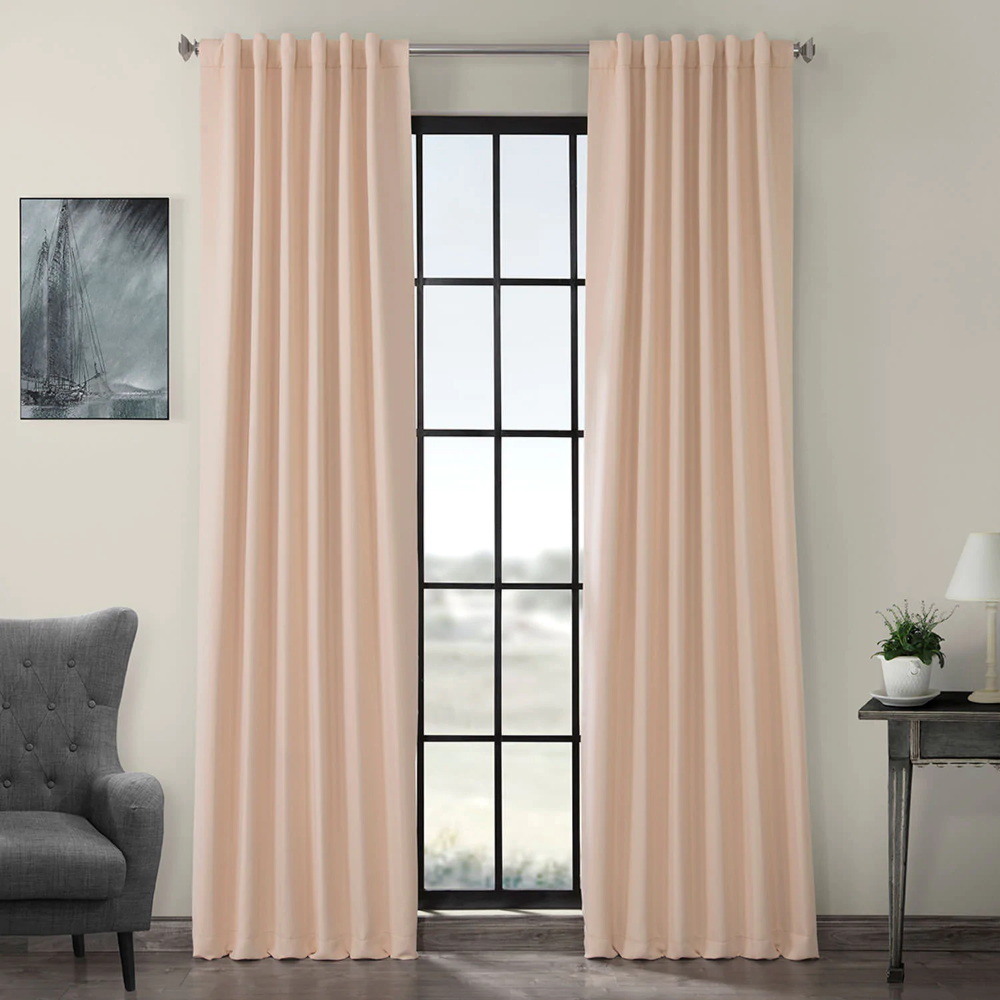 Bellini Peach Blackout Room Darkening Curtain Pink Blackout Curtains Panel Curtains Blackout Curtains